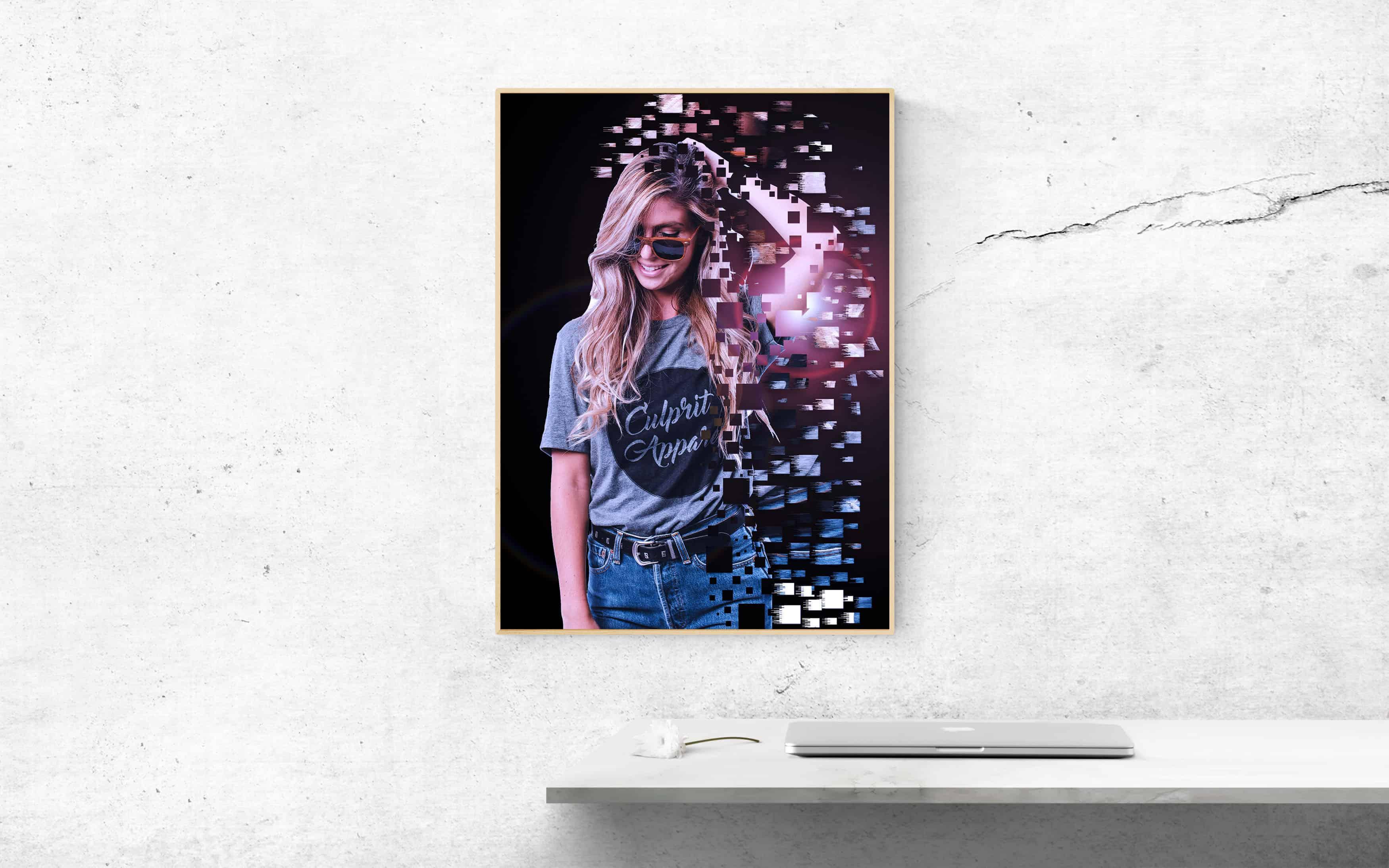 ефекта Pixel Explosion във Photoshop
